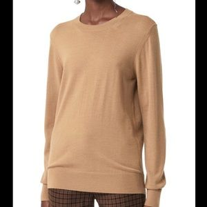 NWT Burberry Wool Camel Sweater w/ Elbow Patches